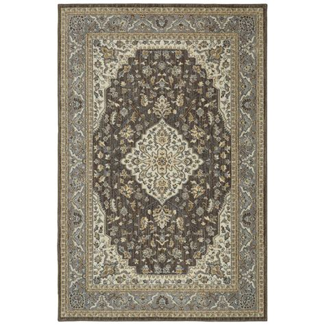 Mohawk Home Kham Grey 5 Ft 3 In X 7 Ft 10 In Area Rug Mohawk Home Area Rug