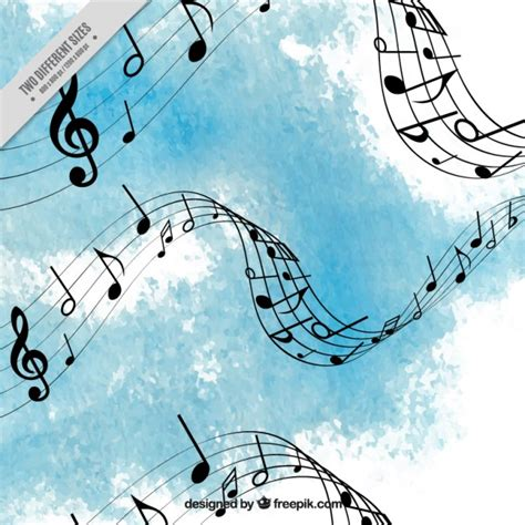 free light background music light blue watercolor music background vector premium
