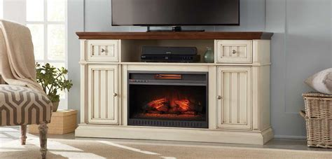 Sliding Barn Door Tv Stand White Fireplace Entertainment Center The Home Depot