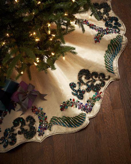 elegant christmas tree skirts seybert masquerade tree skirt