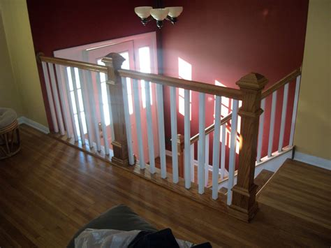 Interior Balusters by Oak Interior Stair Railing Designs White Baluster Oak