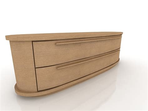 low dresser with drawers low chest of drawers 3d model
