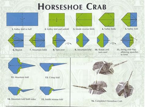 How To Make Origami Crab - horseshoe crab money origami horseshoe