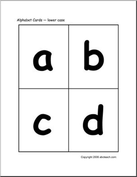 printable lowercase alphabet flashcards with pictures flashcards alphabet lowercase abcteach