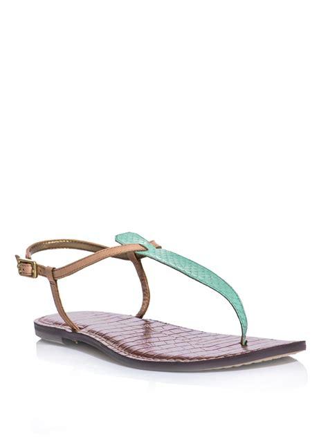 mint green sandals sam edelman gigi sandals in green mint lyst