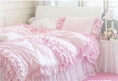 ruffled bedspreads comforters pink ruffled queen duvet cover shabby chic ruffles and