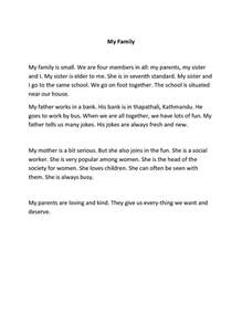 How To Write An Essay About My Family essay on my family in