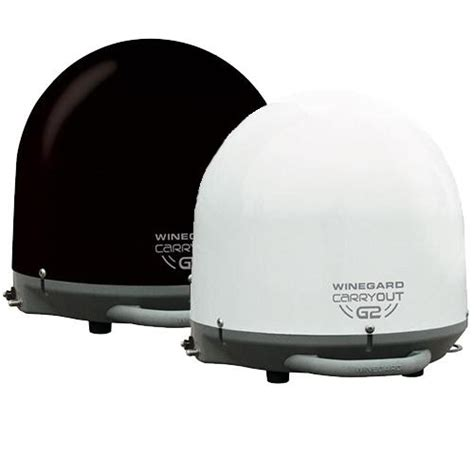 winegard carryout g2 portable rv satellite available in black or white works with directv or
