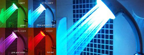 Changing Color Shower by Hydrobright Led Illuminated Color Changing Showerhead