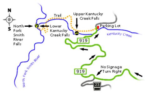 kentucky falls map define