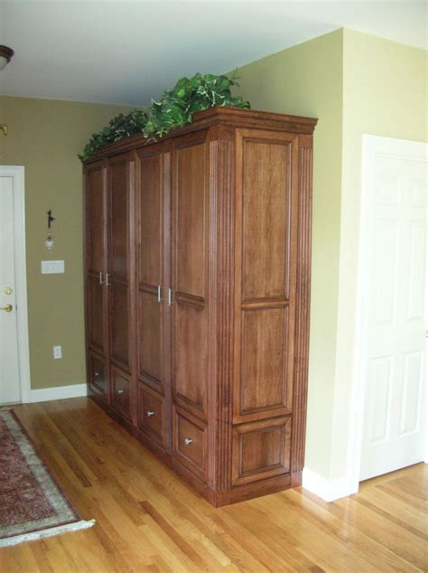 entryway armoire hand crafted entry hall armoire by case by case cabinets custommade com