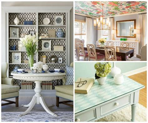 Paint Colors For A Dining Room 9 Ways To Use Wallpaper In A Living Room