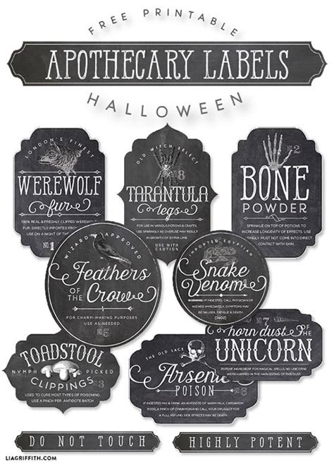 printable ingredient tags printable apothecary labels for halloween texts