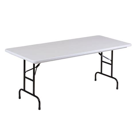Folding Table Adjustable Height Correll R Series Ra3072 30 Quot X 72 Quot Gray Granite Plastic Adjustable Height Folding Table