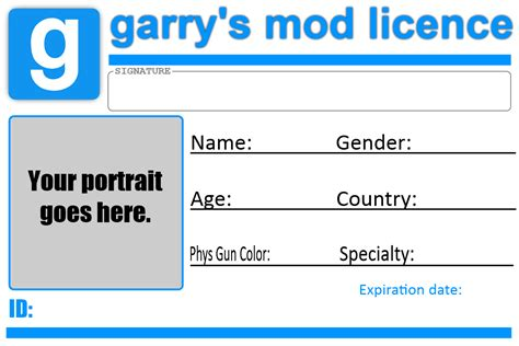 gmod licence template by tbwinger92 on deviantart