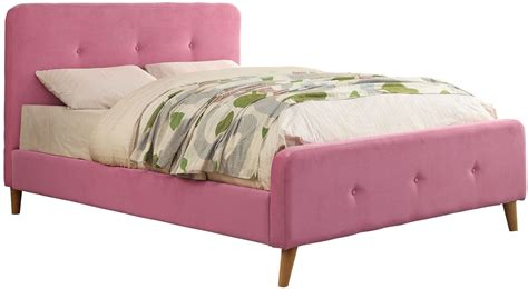 pink twin bed barney pink twin upholstered panel bed cm7272pk t