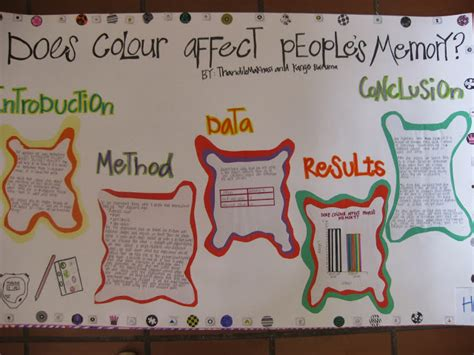 how does color affect memory bridges academy science fair 2013