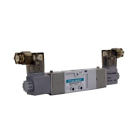 Solenoid Valve Pilot 5 2 Drat 1 8 Inch 1 8 quot npt dc24v pneumatic solenoid valve 3 position 5 way toolots