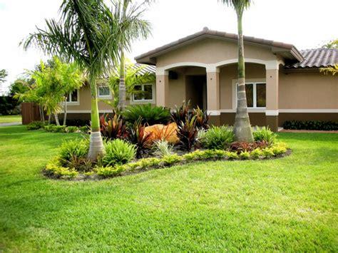 mobile home yard design jardines de casas con palmeras