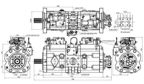 main piston kv kawasaki hydraulic pump   volvo ecb excavator