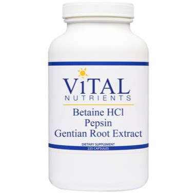 Small Intestine Detox Marshmallow And Pepsin by Vital Nutrients Betaine Hcl Pepsin Formula