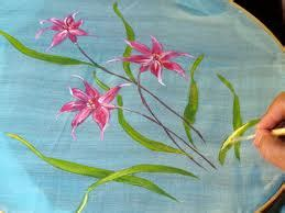 lukisan contoh proses melukis  atas kain