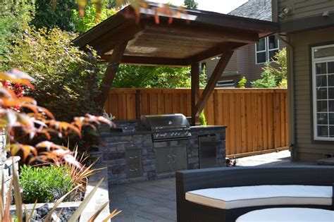 Patio And Outdoor by Outdoor Kitchen Traditional Patio Portland By All