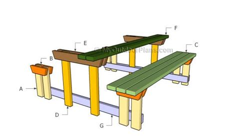 building a picnic table with detached benches picnic table plans pinterest picnic table