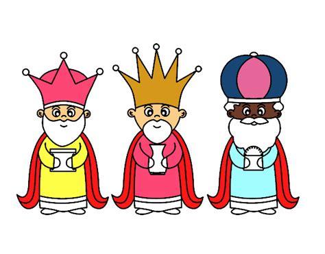 imagenes de los tres reyes magos con sus nombres dibujo de los 3 reyes magos pintado por bautopa en dibujos