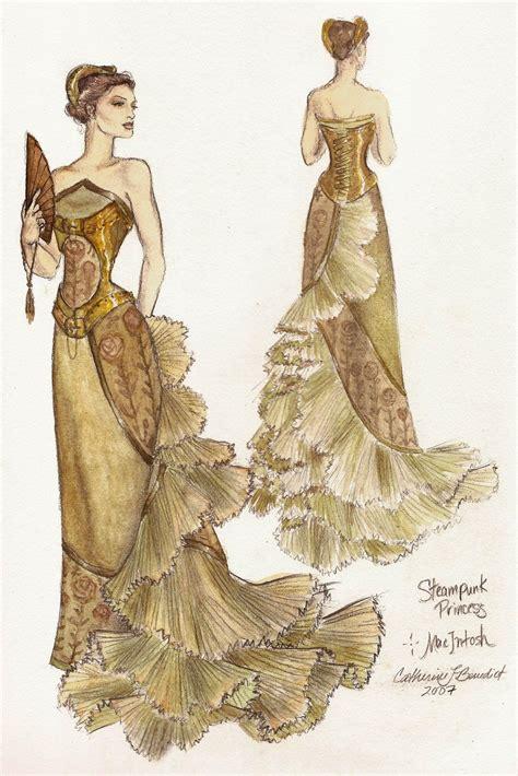 victorian design clothes steunk princess ballgown by fashion artist catherine
