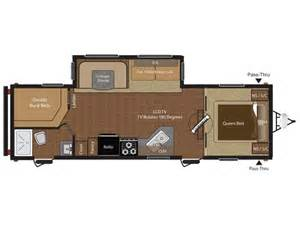 Travel Trailers Floor Plans 2014 Keystone Hideout 28bhs Floor Plan Travel Trailer