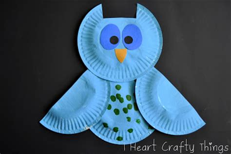 How To Make A Paper Plate Owl - colorful patterned owls family crafts