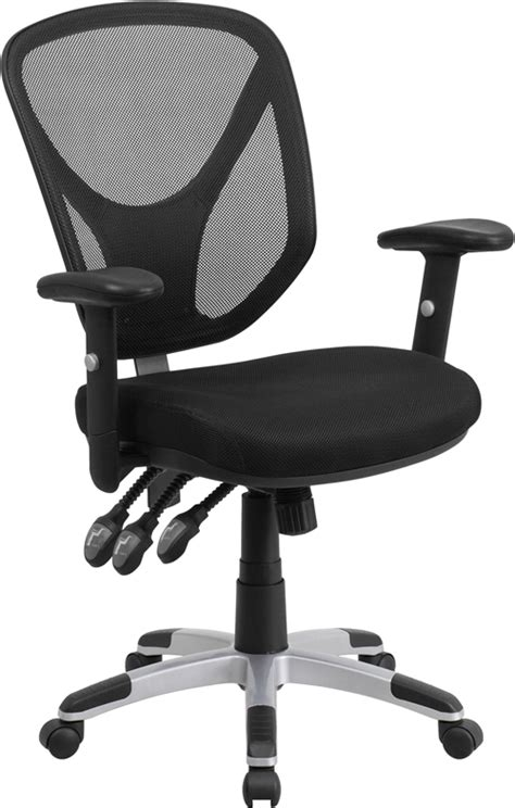 Flash Furniture Mid Back Black Mesh Computer Chair by Flash Furniture Mid Back Black Mesh Swivel Task Chair With