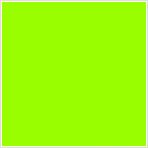 99ff00 hex color rgb 153 255 0 chartreuse green