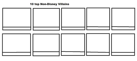 top 10 non disney villains meme blank by hodini012 on