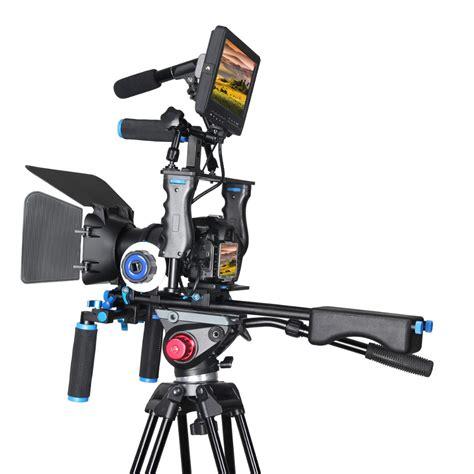 Dslr Rig Set Kit Handheld Shoulder Mount Follow Focus Matte Box dslr rig stabilizer shoulder mount rig matte box