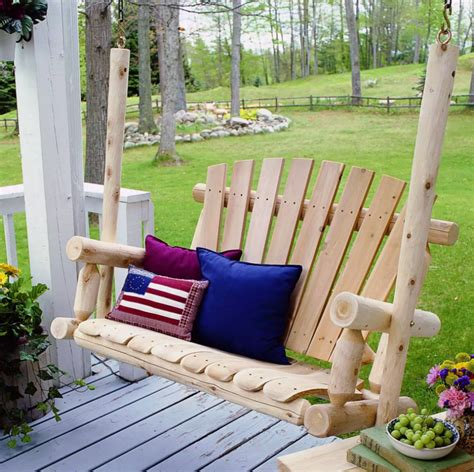 outdoor wood swings 35 swingin backyard swing ideas