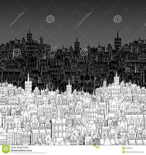 imagenes a blanco y negro de ciudades ciudad pintada en esquema blanco y negro imagen de