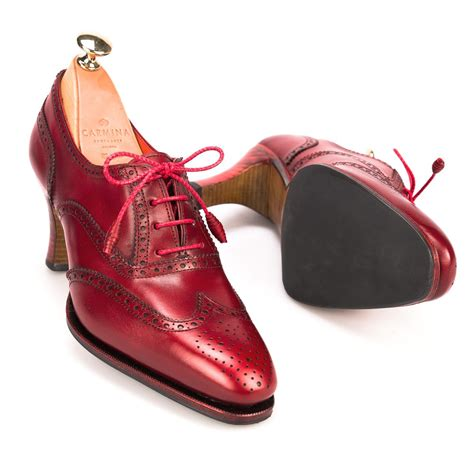 womens high heel oxford shoes high heel oxford shoes in vitello