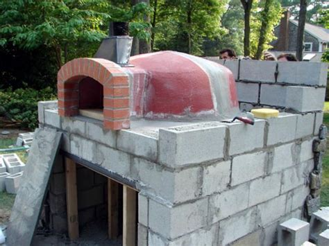 build  stone pizza oven  tos diy