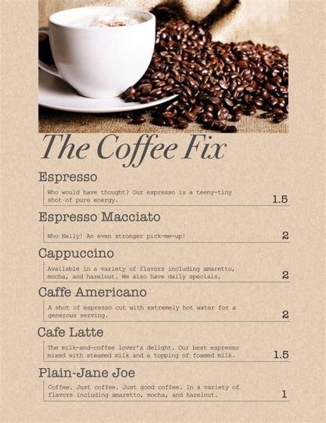 design menu coffee spraygraphic community projects graphic design coffee shop