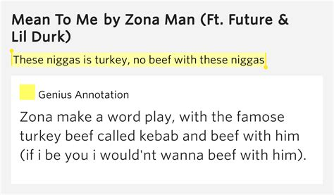 these meaning these niggas is turkey no beef with these niggas mean