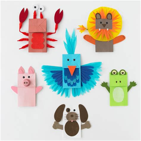 Paper Puppet Crafts - childrens church