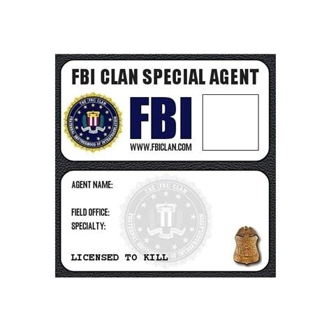 fbi badge template fbi badge liked on polyvore featuring supernatural