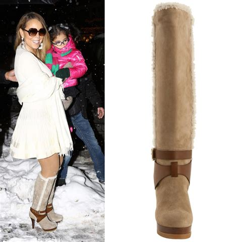 Would You Wear Careys High Heels by Uma Thurman S Carpet Snow Boots Vs Carey S