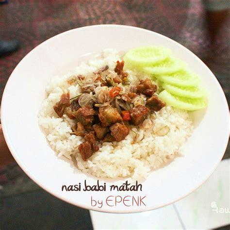 Nasi Babi Cabe Hijau kriuk2 jos review social bandits the big eater di restoran samcan goreng epenk cibadak