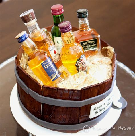 wonderful happy birthday liquor cake birthday cake made