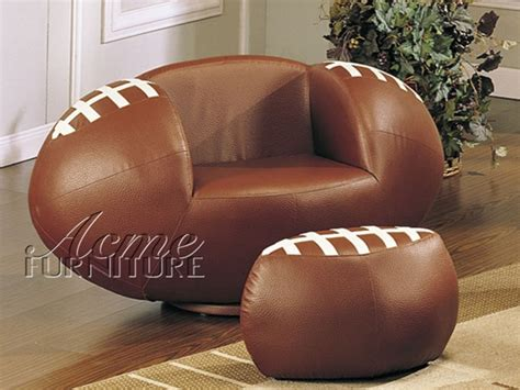 football chair and ottoman all star football chair ottoman by acme 5526