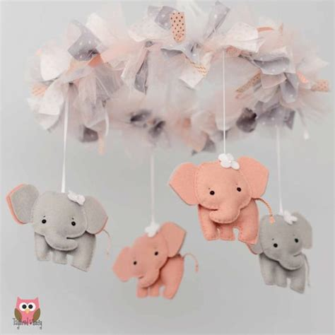 elephant mobile elephant mobile baby mobile custom mobile not ready