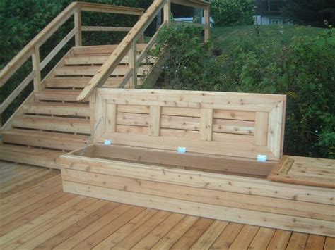 decking bench deck bench with storage 171 karolciblog